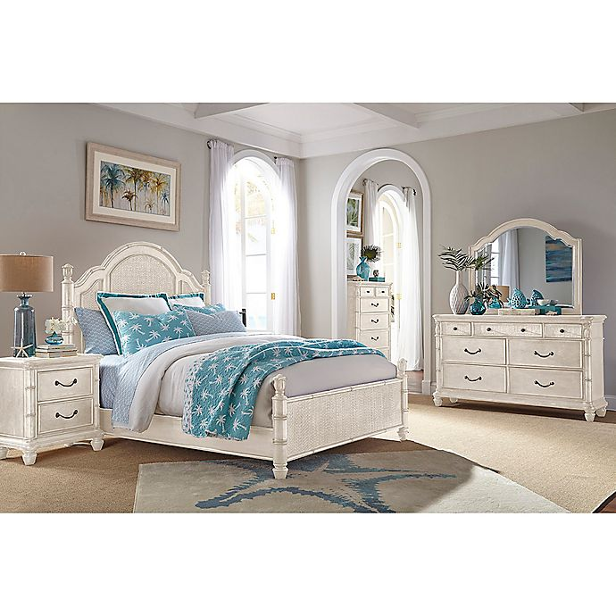 Palmetto Home Panama Jack Isle of Palms Bedroom Set in White ...