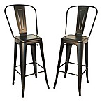 Carolina Cottage Adeline 30-Inch Metal Bar Stool (Set of 2)