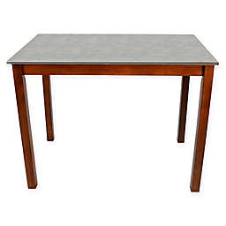 Carolina Cottage Cooper Stainless Steel Top Bar Table