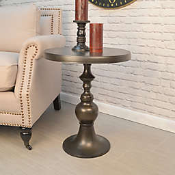Carolina Cottage Lexington Metal Accent Table in Old World Bronze