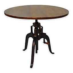 Carolina Cottage Bentley Adjustable Crank Accent Table in Chestnut/Black
