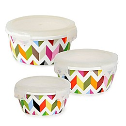 French Bull® Ziggy Round Porcelain Storage (Set of 2)