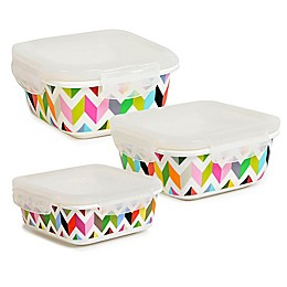 French Bull® Ziggy Square Porcelain Storage Containers (Set of 2)