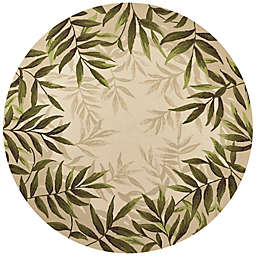 KAS Harbor Nature 7-Foot 6-Inch Round Indoor/Outdoor Area Rug in Sand