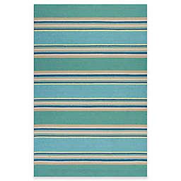 KAS Harbor Stripes Indoor/Outdoor Rug in Ocean
