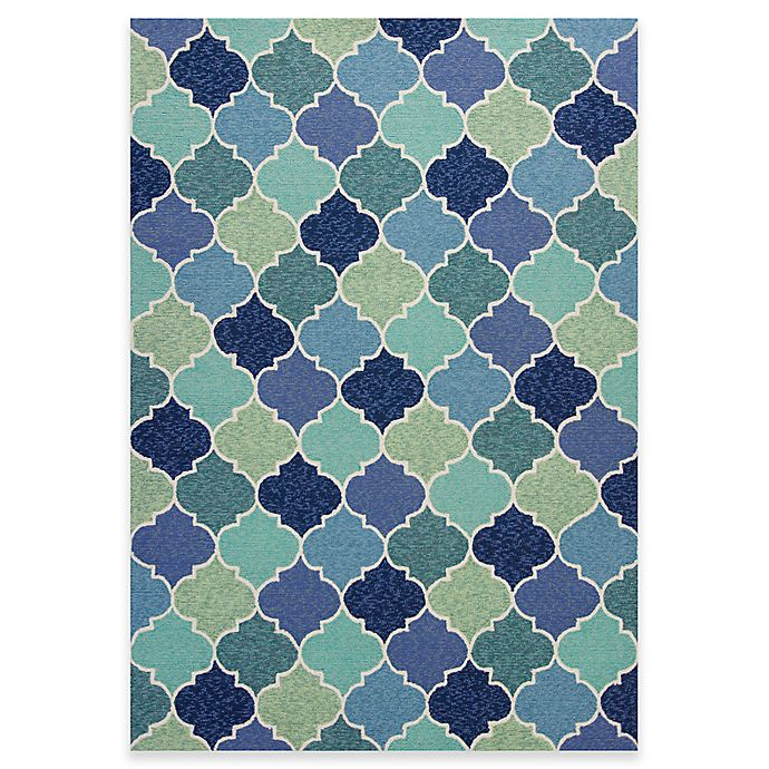 Alternate image 1 for KAS Harbor Stella 2-Foot x 3-Foot Indoor/Outdoor Accent Rug in Blue