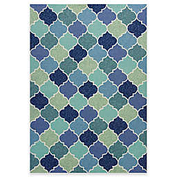 KAS Harbor Stella 3-Foot 3-Inch x 5-Foot 3-Inch Indoor/Outdoor Area Rug in Blue