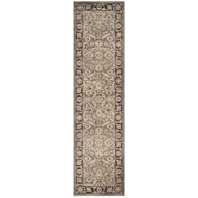 Alternate image 1 for Safavieh Vintage Marciana 2-Foot x 2-Inch x 8-Foot Runner in Taupe/Black