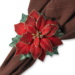 Poinsettia Napkin Rings (Set of 4)