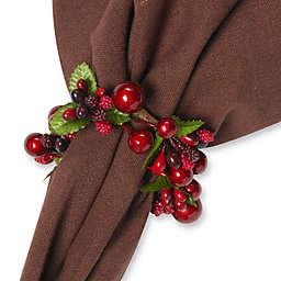 Iridescent Berry Napkin Rings (Set of 4)