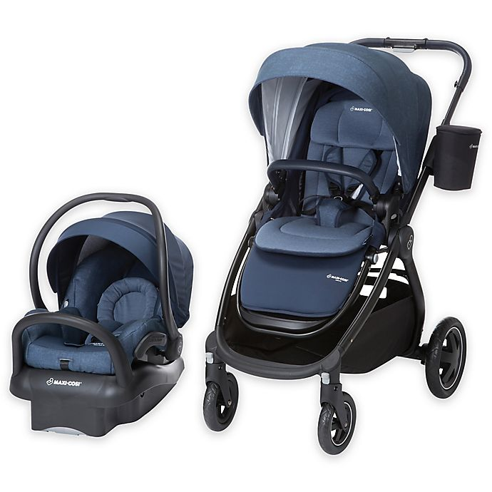 Alternate image 1 for Maxi-Cosi® Adorra Travel System Black Frame in Nomad Blue