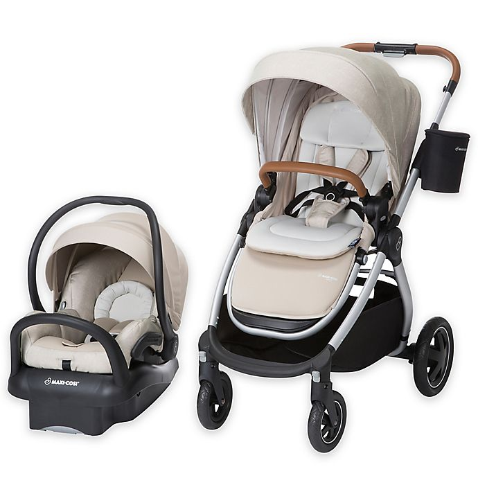 Alternate image 1 for Maxi-Cosi® Adorra Travel System Silver Frame in Nomad Sand