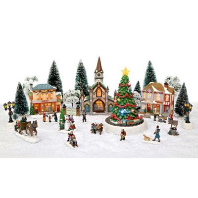 30 piece led christmas village set bed bath beyond