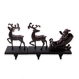 3-pack Reindeer with Sleigh Stocking Hangers
