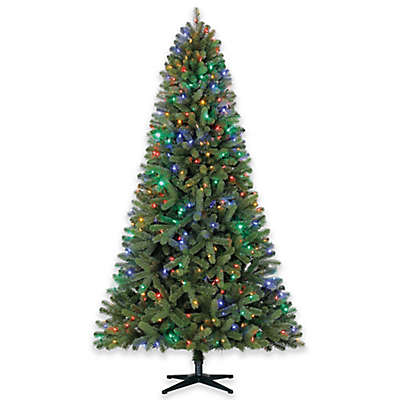 7-Foot Hazelton Pine Pre-Lit Artificial Christmas Tree with Color-Changing Lights