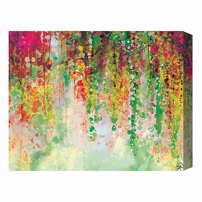 Alternate image 1 for Chartreuse Draped Wisteria 16-Inch x 20-Inch Canvas Wall Art