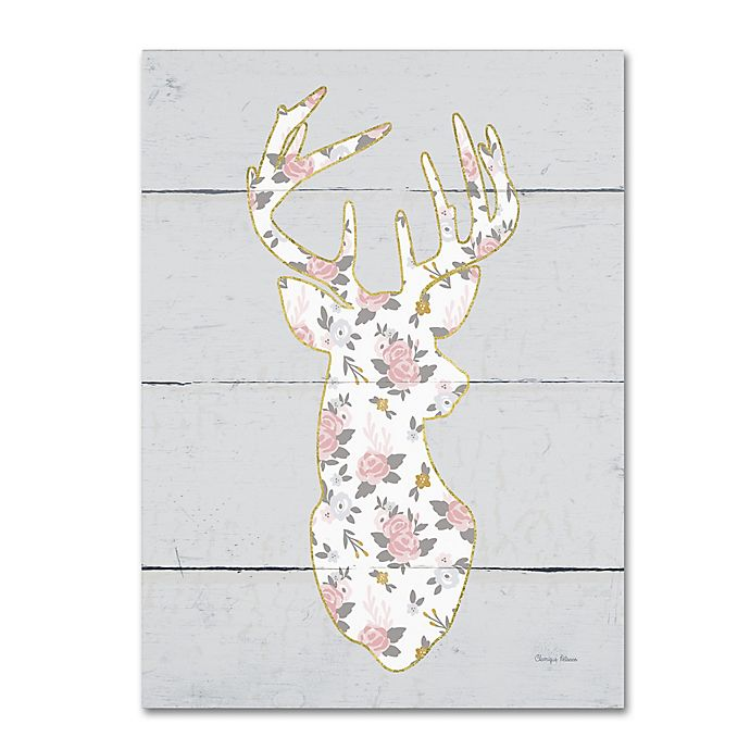 Alternate image 1 for Cleonique Hilsaca Floral Deer I 24-Inch x 32-Inch Canvas Wall Art