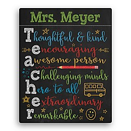 Colorful Teacher Canvas Wall Art