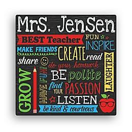 All About Teacher Canvas Wall Art