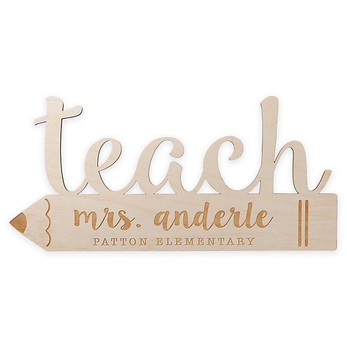 Alternate image 1 for Teacher Personalized Wood Wall Art