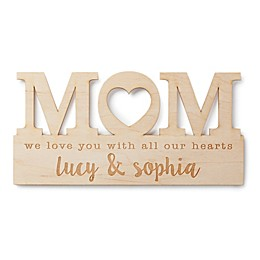 For Mom Personalized Wood Plaque