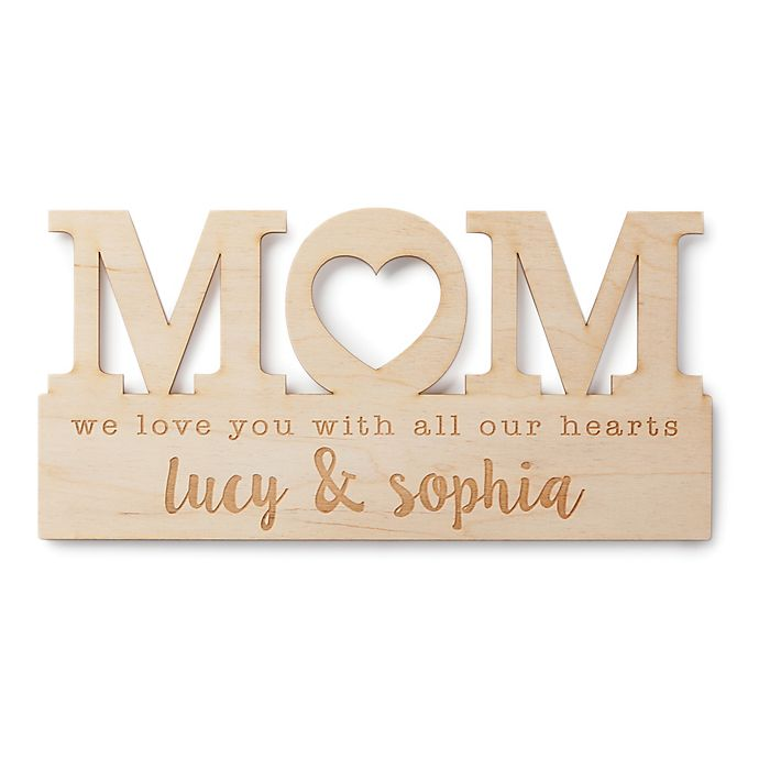Alternate image 1 for For Mom Personalized Wood Plaque