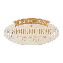 Grandchildren Spoiled Here Personalized Wood Plaque