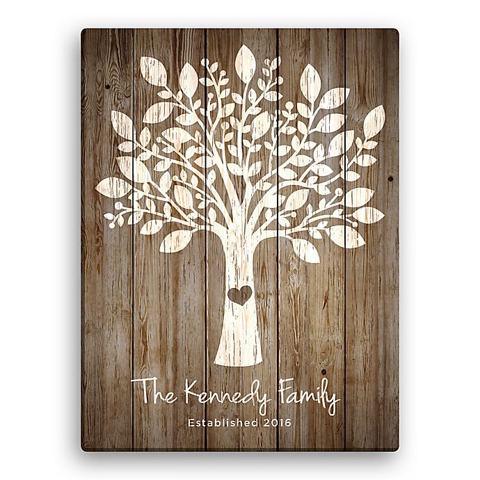 Family Tree Personalized Canvas Wall Art | Bed Bath & Beyond