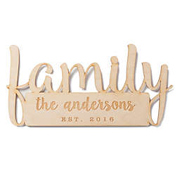 Family Personalized Wood Plaque