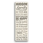 Family Rules Personalized Canvas Wall Art