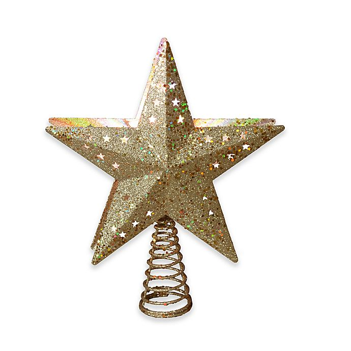 12 5 Inch Star Projection Tree Topper In Gold Bed Bath Beyond