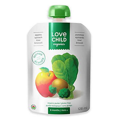 Love Child Organics 4 oz. Apples, Spinach, Kiwi, & Broccoli Baby Food Puree