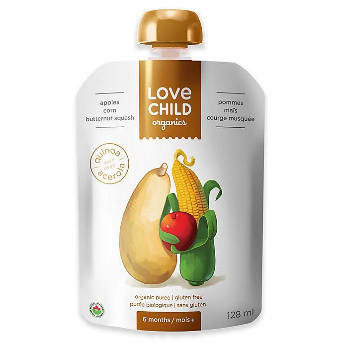 Alternate image 1 for Love Child Organics 4.3 oz. Apples, Butternut Squash, & Corn Baby Food Puree