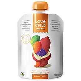 Love Child Organics 4.3 oz. Apples, Sweet Potatoes, Carrots & Blueberries Baby Food Puree