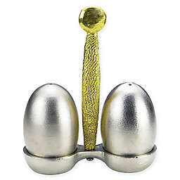 Classic Touch Tervy Spaghetti Salt and Pepper Set with Tray