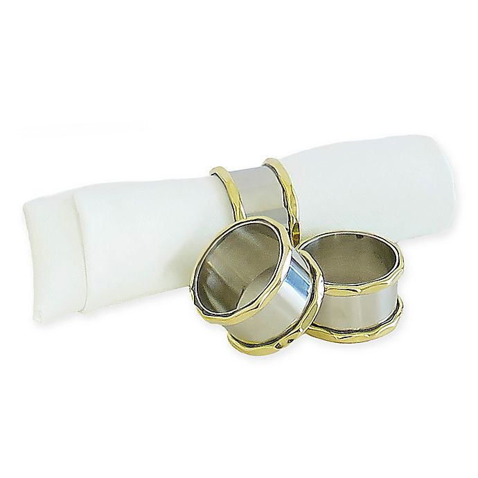Alternate image 1 for Classic Touch Superby Napkin Rings (Set of 4)