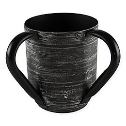 Classic Touch Mundane Ceramic Wash Cup in Black/White