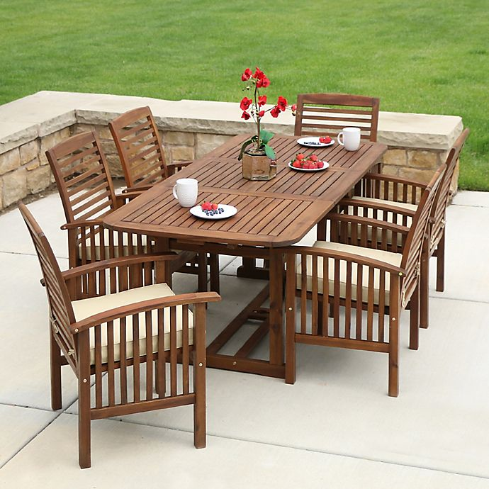 Stupendous Forest Gate Eagleton Patio Acacia Wood Outdoor Furniture Machost Co Dining Chair Design Ideas Machostcouk
