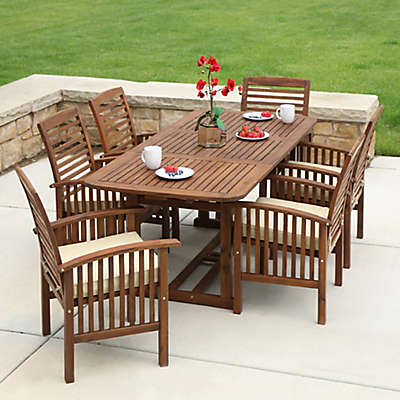 Forest Gate Eagleton Patio Acacia Wood Outdoor Furniture Collection