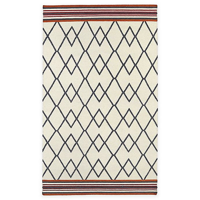 Alternate image 1 for Kaleen Nomad Diamond 9-Foot x 12-Foot Area Rug in Ivory