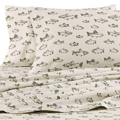 Eddie Bauer School Of Fish Flannel Sheet Set Bed Bath Beyond