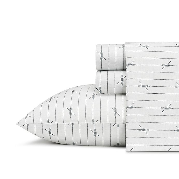 Alternate image 1 for Eddie Bauer® Downstream Full Sheet Set in Grey