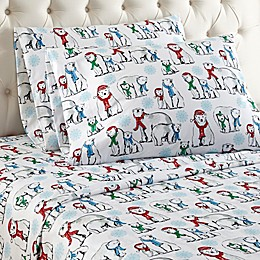 Micro Flannel® Polar Bear Print Sheet Set