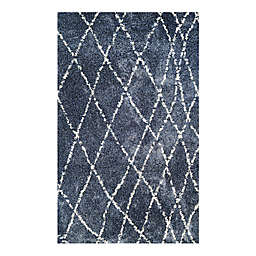 Couristan® Bromley Whistler Shag Area Rug in Blue/Snow