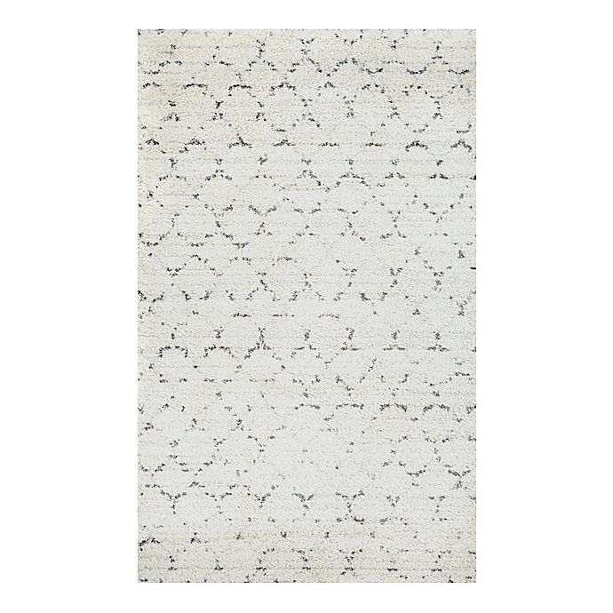 Alternate image 1 for Couristan® Bromley Davos 3-Foot 11-Inch x 5-Foot 6-Inch Shag Area Rug in Snow/Brown