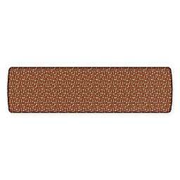 GelPro® Elite Decorator New Leaves 30-Inch x 108-Inch Kitchen Mat in Amber