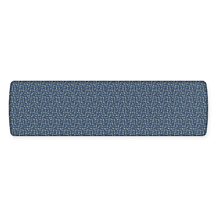 Alternate image 1 for GelPro® Elite Decorator New Leaves 30-Inch x 108-Inch Kitchen Mat in Deep Sea