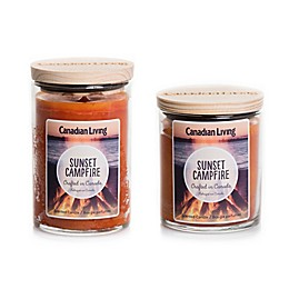 Canadian Living Sunset Campfire Jar Candle