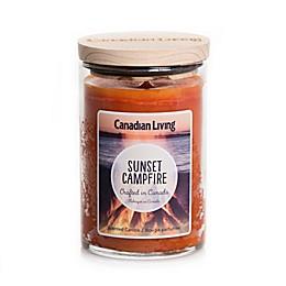 Canadian Living Sunset Campfire 10 oz. Jar Candle