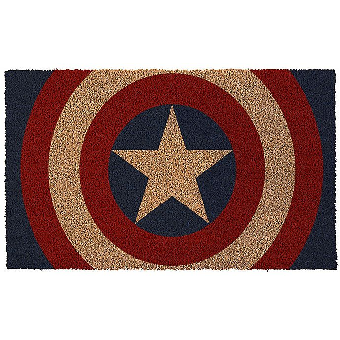 Alternate image 1 for Captain America Shield 17-Inch x 29-Inch Door Mat
